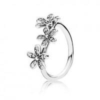 Anel Em Prata Flor Bem-Me-Quer