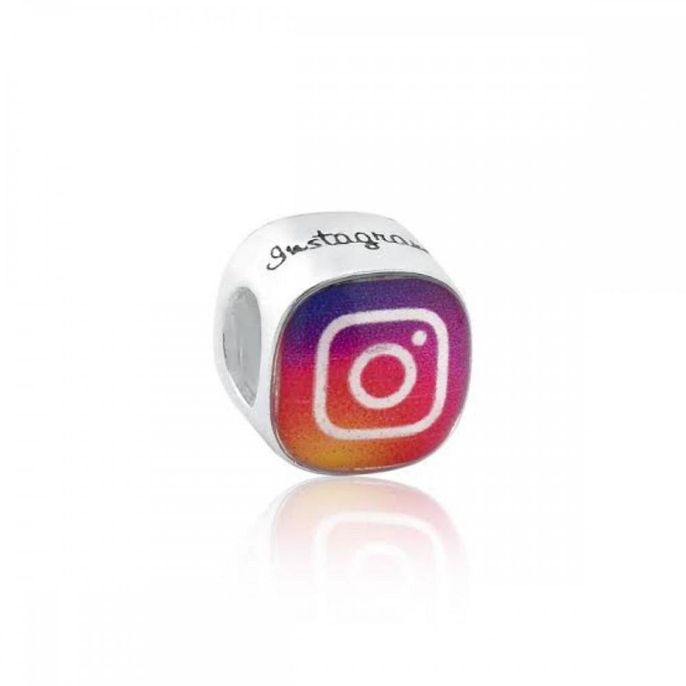 BER-10 Berloque  Instagram Prata 925