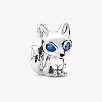 Berloque Raposa de Olhos Azuis Prata 925
