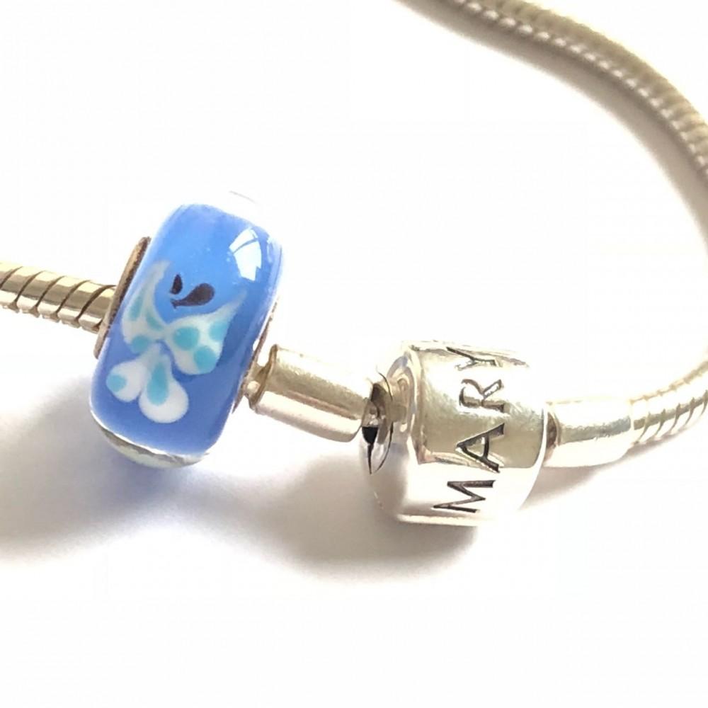 MU-04 Murano Borboleta Azul .