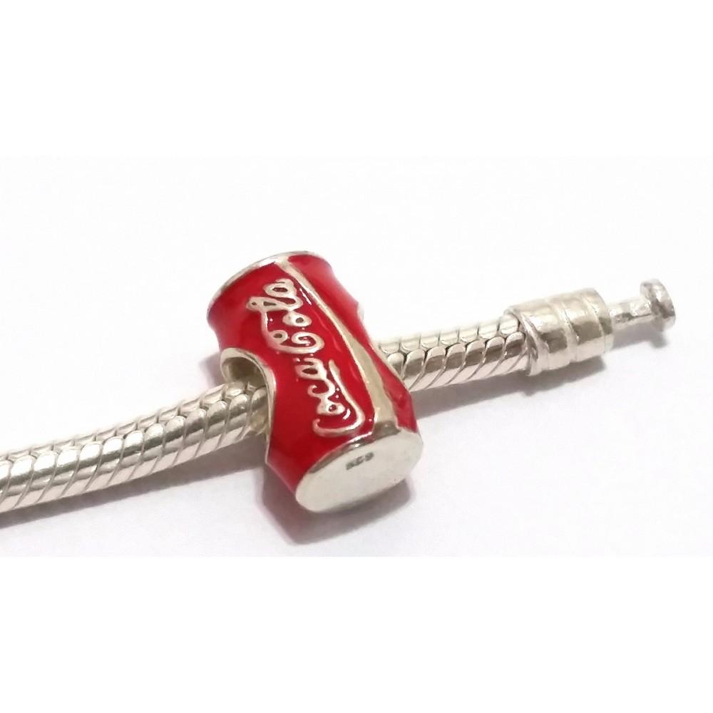 BE-188 Berloque Lata de Coca-Cola em Prata 925