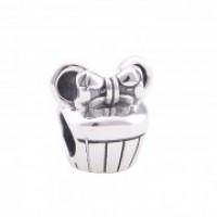 Berloque Cupcake Mouse Em Prata