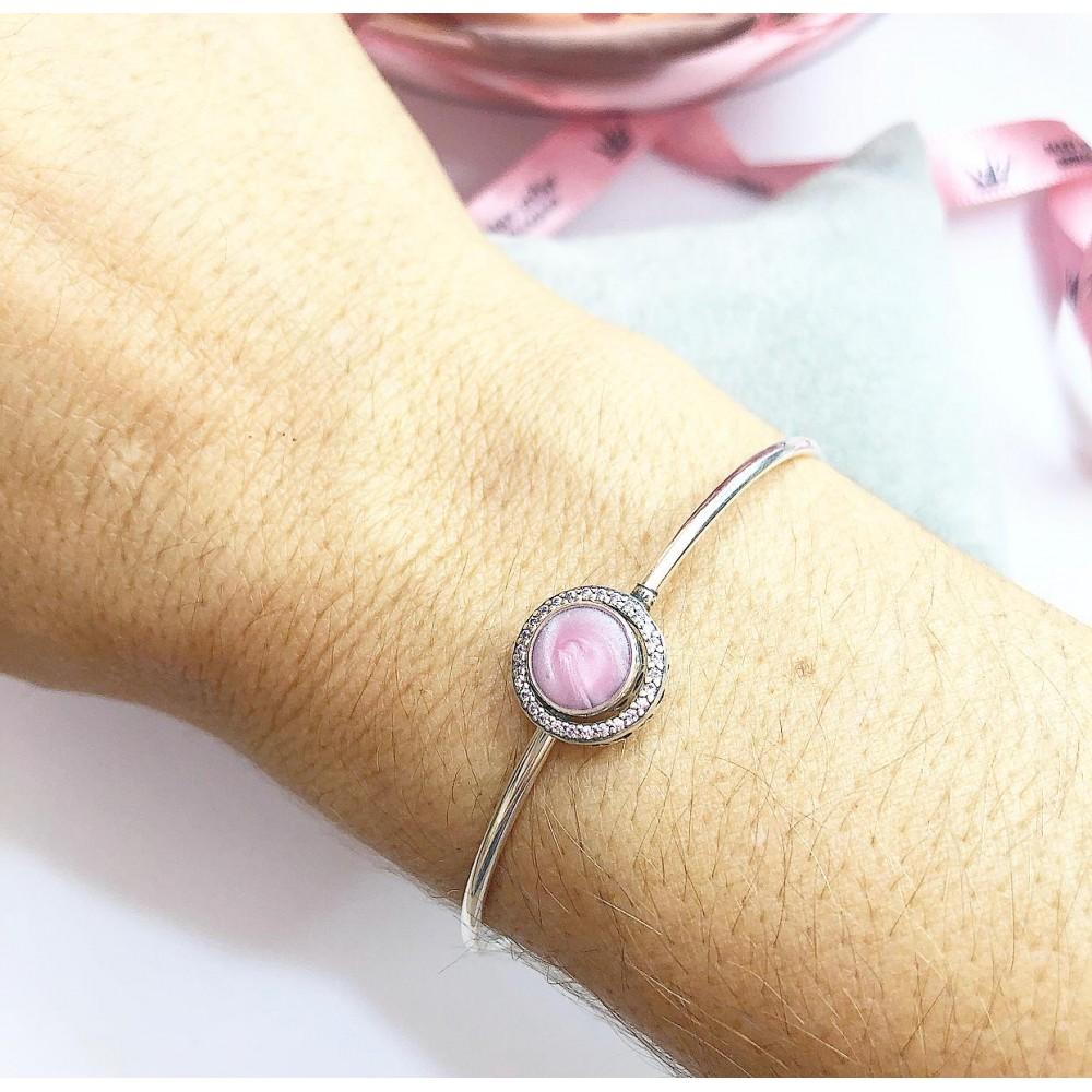 Bracelet Amor que une , Prata 925  Madrepérola