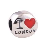 BE-364 Berloque I Love London em Prata