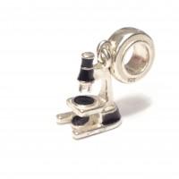 Pingente Microscópio em Prata 925