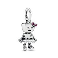 Pingente Bella Bot Punk Prata 925