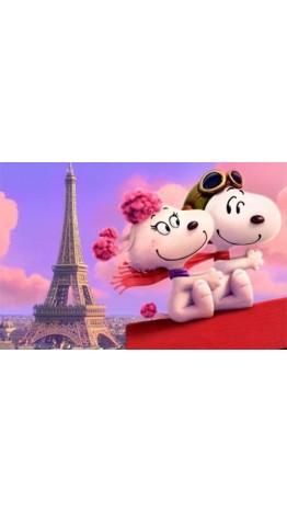 BE-308 Berloque Snoopy Aviador in love Paris